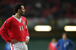 CARDIFF, WALES - WEDNESDAY, MARCH 1st, 2006: Wales' Ryan Giggs during the International Friendly match against Paraguay at the Millennium Stadium. (Pic by Dan Istitene/Propaganda)
