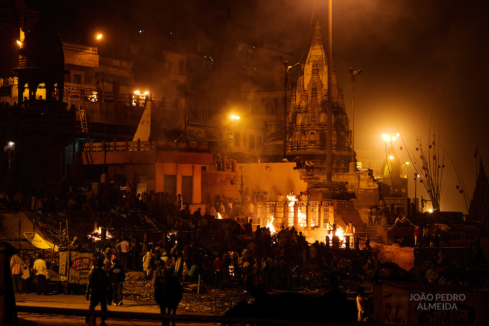Manikarnika, the main burning ghat of Varanasi