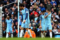 Manchester City players look dejected after Swansea City score the equalising goal - Mandatory by-line: Matt McNulty/JMP - 05/02/2017 - FOOTBALL - Etihad Stadium - Manchester, England - Manchester City v Swansea City - Premier League