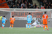 Goal Jordan AYEW - 02.12.2014 -  Lorient / Marseille - 16eme journŽe de Ligue 1 <br />