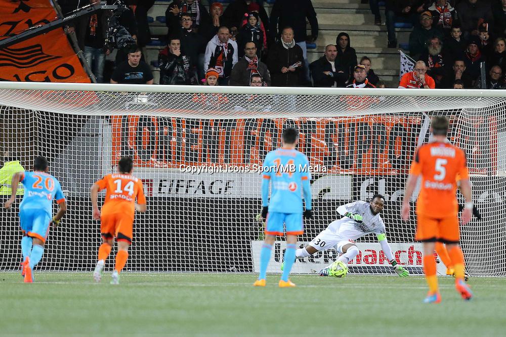 Goal Jordan AYEW - 02.12.2014 -  Lorient / Marseille - 16eme journŽe de Ligue 1 <br />Photo : Vincent Michel / Icon Sport