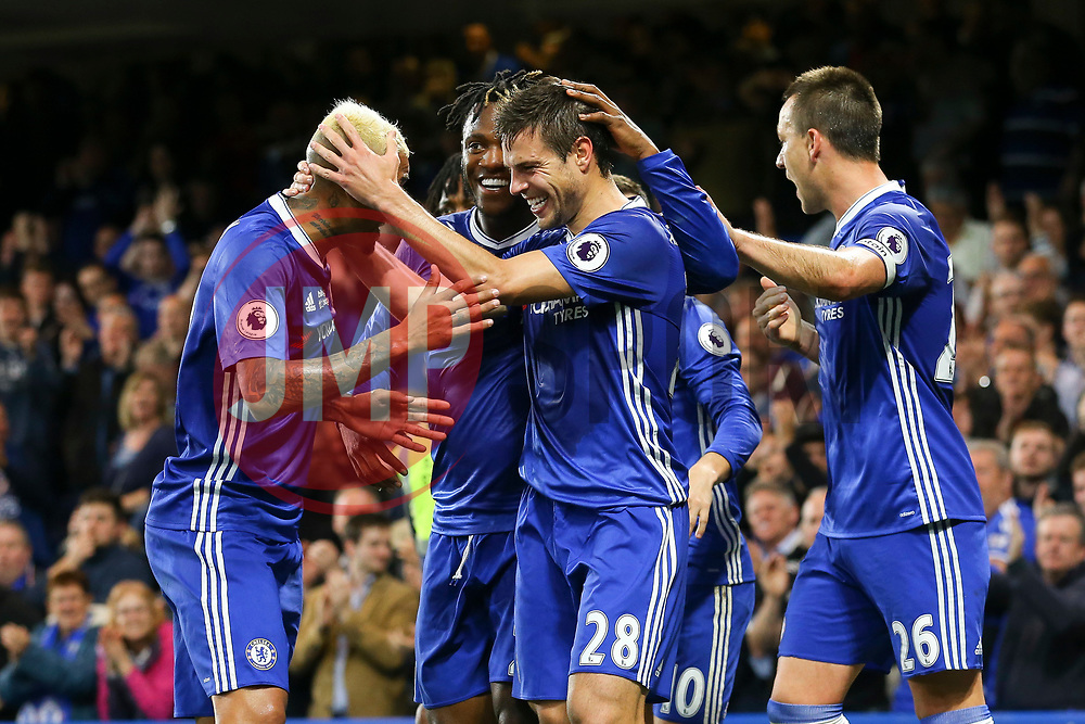 Chelsea celebrate Cesar Azpilicueta of Chelsea goal, Chelsea 2-1 Watford - Mandatory by-line: Jason Brown/JMP - 15/05/2017 - FOOTBALL - Stamford Bridge - London, England - Chelsea v Watford - Premier League