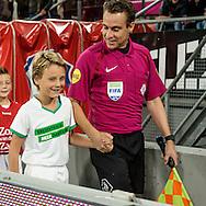 26-10-2016: Voetbal: FC Utrecht v FC Groningen: Utrecht<br /> <br /> (L-R) Junior Tiger Mike van der Voorn tijdens het 2e ronde KNVB beker duel tussen FC Utrecht en FC Groningen op 26 oktober in stadion Galgenwaard<br /> <br /> KNVB Beker - Seizoen 2016 / 2017<br /> <br /> Foto: Gertjan Kooij