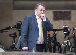 © Licensed to London News Pictures. 15/05/2019. London, UK. Trade Secretary Liam Fox leaves Parliament after attending Prime Minister's Question's. Photo credit: Peter Macdiarmid/LNP