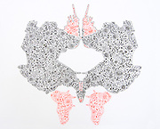 Christan Mitchell, Card 1, Chantilly, 2012, quilled ink on board