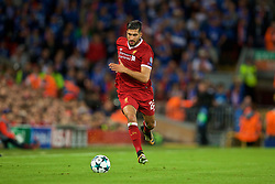 LIVERPOOL, ENGLAND - Wednesday, August 23, 2017: Liverpool's Emre Can during the UEFA Champions League Play-Off 2nd Leg match between Liverpool and TSG 1899 Hoffenheim at Anfield. (Pic by David Rawcliffe/Propaganda)