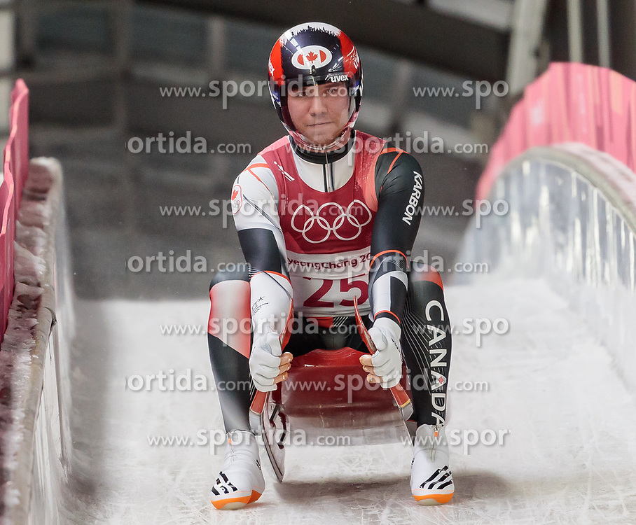 11.02.2018, Olympic Sliding Centre, Pyeongchang, KOR, PyeongChang 2018, Rodeln, Herren, 3. Lauf, im Bild Mitchel Malyk (CAN) // Mitchel Malyk of Canada during the Men's Luge Singles Run 3 competition at the Olympic Sliding Centre in Pyeongchang, South Korea on 2018/02/11. EXPA Pictures © 2018, PhotoCredit: EXPA/ Johann Groder