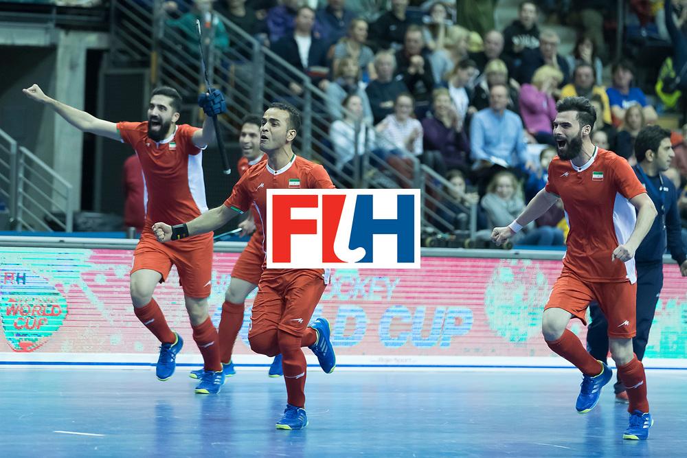 Hockey, Seizoen 2017-2018, 09-02-2018, Berlijn,  Max-Schmelling Halle, WK Zaalhockey 2018 MEN, Iran - Czech Republic 2-2 Iran Wins after shoutouts, Iran reach the semi finals