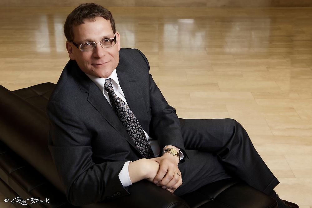 Corporate casual portraits of Principal Daniel Woolf