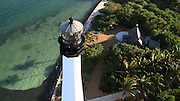 Aerial of Cape Florida Lighthouse and Keepers House