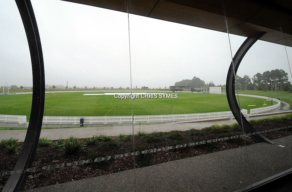 General view of Saxton Oval during a rain delayed start of Day three of the Plunket Shield cricket - Canterbury Wizards v Central Stags at Saxton Oval, Nelson, New Zealand. Sunday 11 March 2012. Photo: Chris Symes/www.photosport.co.nz
