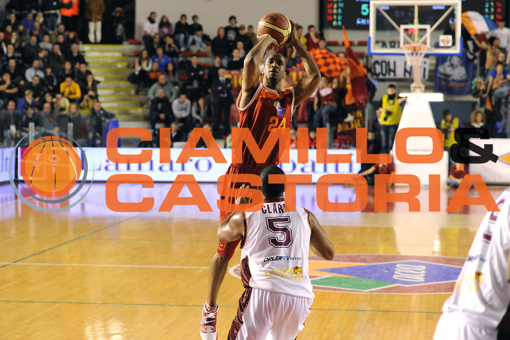 DESCRIZIONE : Roma Lega A 2011-12 Acea Virtus Roma Umana Reyer Venezia<br /> GIOCATORE : Clay Tucker<br /> CATEGORIA : three points<br /> SQUADRA : Acea Virtus Roma<br /> EVENTO : Campionato Lega A 2011-2012<br /> GARA : Acea Virtus Roma Umana Reyer Venezia<br /> DATA : 30/12/2011<br /> SPORT : Pallacanestro<br /> AUTORE : Agenzia Ciamillo-Castoria/GiulioCiamillo<br /> Galleria : Lega Basket A 2011-2012<br /> Fotonotizia : Roma Lega A 2011-12 Acea Virtus Roma Umana Reyer Venezia<br /> Predefinita :