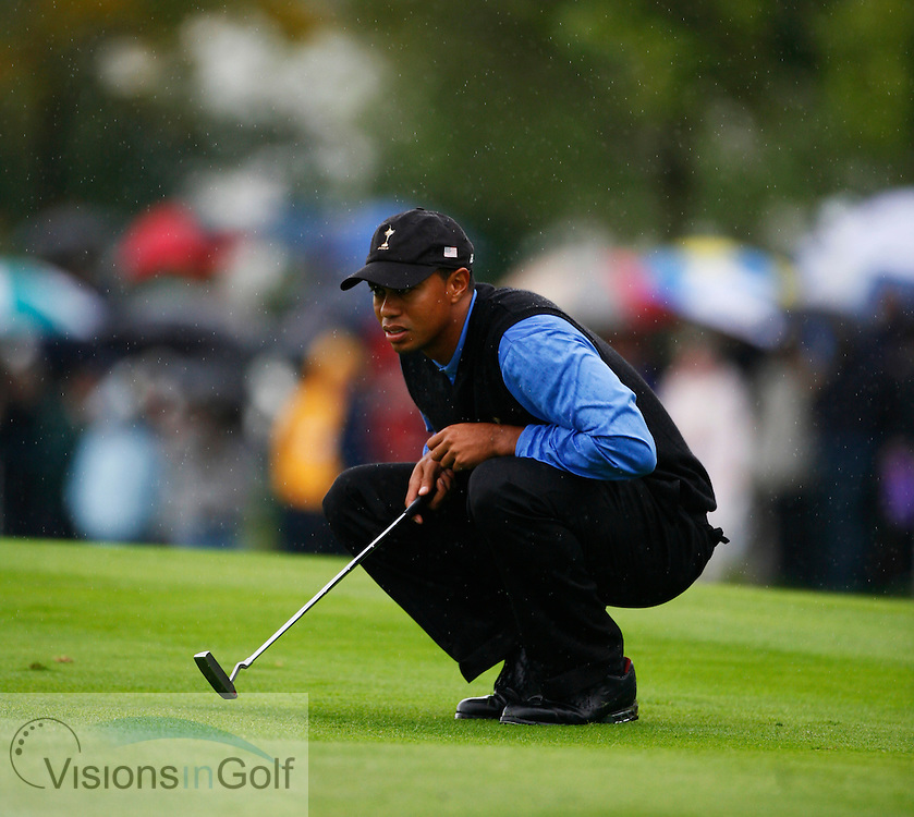 Tiger Woods on the second morning at the 36th Ryder Cup Matches 2006, K Club, Ireland, 060922<br /> Picture Credit: Mark Newcombe / visionsingolf.com