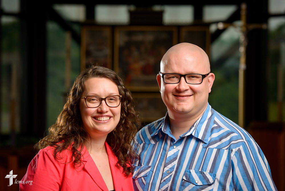 Portrait of the Rev. James and Angela Sharp, career missionaries to Uruguay, on Thursday, June 1, 2017, in the chapel of the International Center of The Lutheran Church–Missouri Synod in St. Louis. LCMS Communications/Erik M. Lunsford