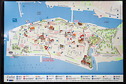 Map of Old Town Zadar, Dalmatian Coast, Croatia