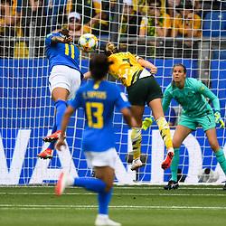 Cristiane of Brazil scores during the Women's World Cup match between Australia and Brazil at Stade de la Mosson on June 13, 2019 in Montpellier, France. (Photo by Alexandre Dimou/Icon Sport)