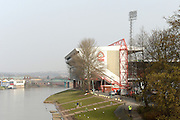 River Trent running next to the City ground ahead of the Sky Bet Championship match between Nottingham Forest and Sheffield Wednesday at the City Ground, Nottingham, England on 12 March 2016. Photo by Jon Hobley.