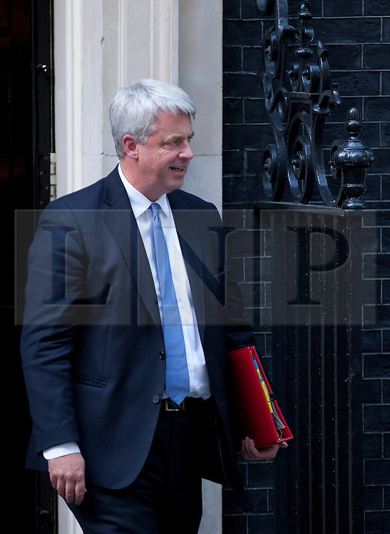© Licensed to London News Pictures. 05/09/2012. LONDON, UK. Andrew Lansley, Leader of the Commons, is seen leaving Number 10 Downing Street in London today (05/09/12) after attending the first cabinet meeting after a cabinet reshuffle that took place yesterday (04/09/12).  Photo credit: Matt Cetti-Roberts/LNP