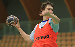 Sebastjan Skube at practice of Slovenian handball men national team before going to Israel, on October 27, 2008 in Lasko, Slovenia. (Photo by Vid Ponikvar / Sportal Images)