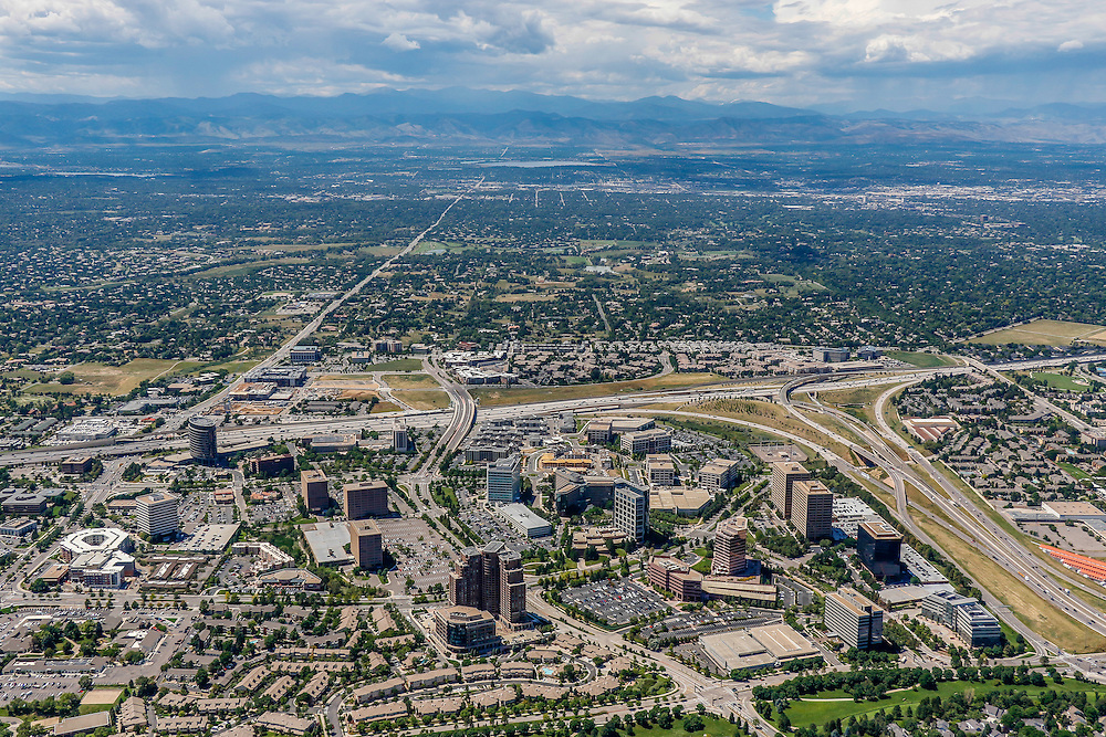 Denver Colorado Aerial Photographs - Stock Aerial Photography of Denver Colorado