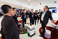 Nederland, Den Haag, 2 feb 2016<br /> TUSExpo in World Forum.  Beurs TUSExpo,  The Unmanned Systems Expo.   Het nieuwste op het gebied van drones en robots wordt getoond.