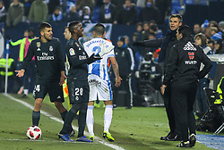 January 16, 2019 - Leganes, Madrid, Spain - Vinicius Jr. of Real Madrid and Pellegrino of Leganes in action during the King Spanish championship, , football match between Leganes and Real Madrid on January 16th at Butarque Stadium in Leganes, Madrid, Spain. (Credit Image: © AFP7 via ZUMA Wire)