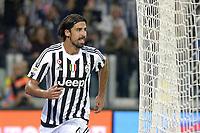 Esultanza Sami Khedira Juventus dopo gol 3-1, goal celebration,<br /> Torino 04-10-2015, Juventus Stadium, Football Calcio 2015/2016 Serie A, Juventus - Bologna, Foto Filippo Alfero/Insidefoto