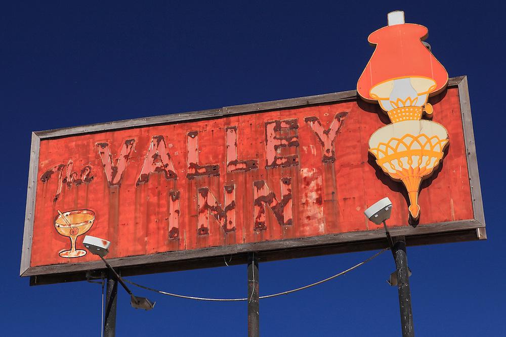 Valley Inn Sign - Kingsburg, CA - Highway 99