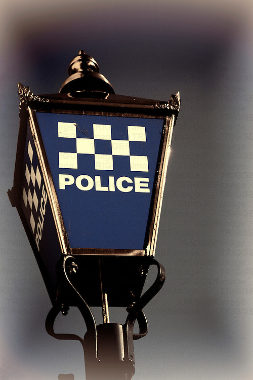 UK Police Street Lamp