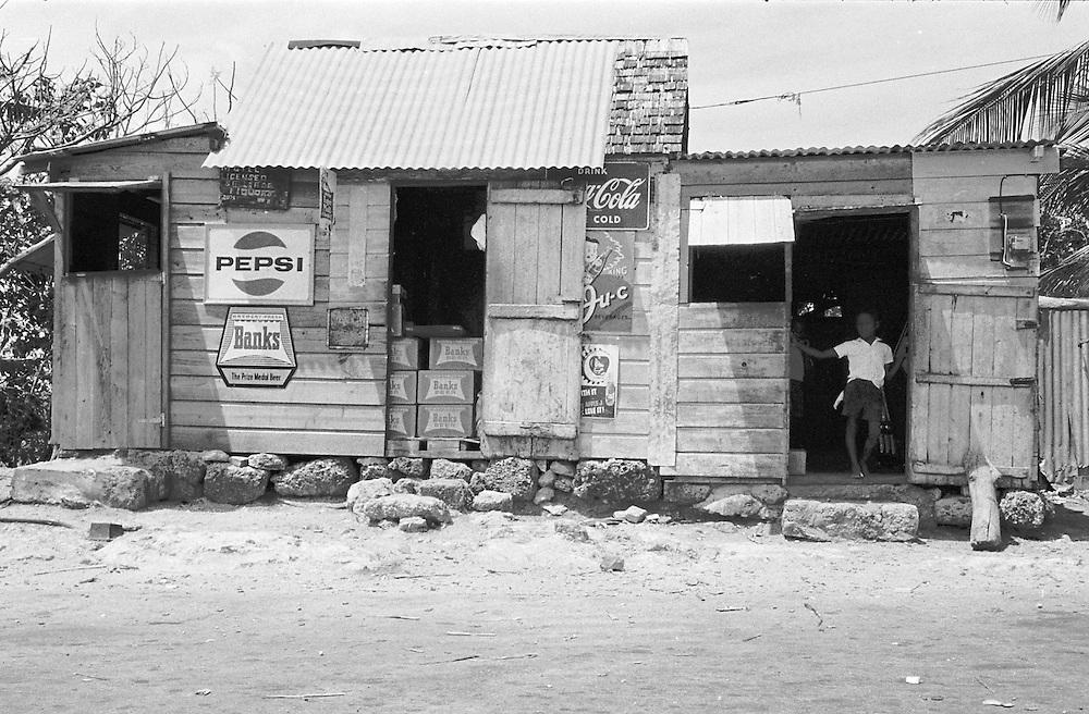 Handelsbod på Barbados i Västindien.