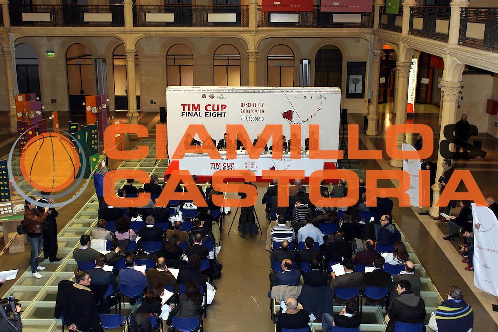 DESCRIZIONE : Bologna Sala Borsa Final Eight 2008 Conferenza Stampa di Presentazione <br /> GIOCATORE : Sala Borsa <br /> SQUADRA : <br /> EVENTO : Tim Cup Basket For Life Coppa Italia Final Eight 2008 <br /> GARA : <br /> DATA : 05/02/2008 <br /> CATEGORIA : <br /> SPORT : Pallacanestro <br /> AUTORE : Agenzia Ciamillo-Castoria/L.Villani