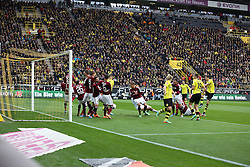 01.03.2014, Signal Iduna Park, Dortmund, GER, 1. FBL, Borussia Dortmund vs 1. FC Nuernberg, 23. Runde, im Bild Robert Lewandowski (Borussia Dortmund #9) scheitert beim indirekten Freistoss an der Nuernberger Mauer, Aktion, Action // during the German Bundesliga 23th round match between Borussia Dortmund and 1. FC Nuernberg at the Signal Iduna Park in Dortmund, Germany on 2014/03/01. EXPA Pictures © 2014, PhotoCredit: EXPA/ Eibner-Pressefoto/ Schueler<br /> <br /> *****ATTENTION - OUT of GER*****