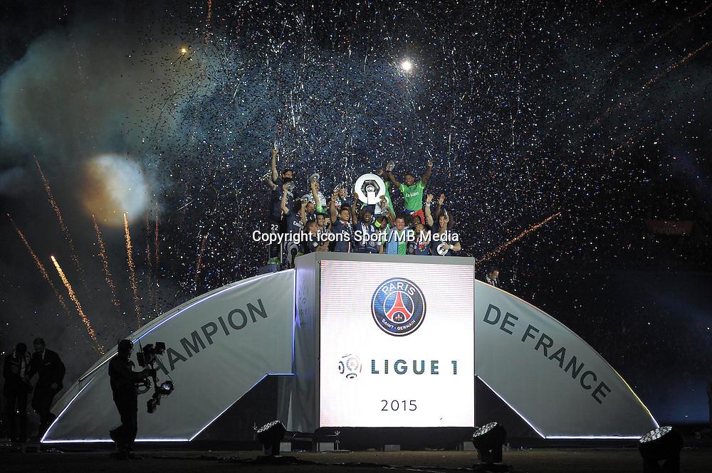 joie PSG - 23.05.2015 - PSG / Reims - 38eme journee de Ligue 1<br />Photo : Andre Ferreira / Icon Sport