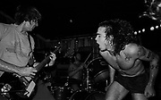 Greg Gihn, left, and Henry Rollins, Black Flag, Music Machine. (Photo: Ann Summa).