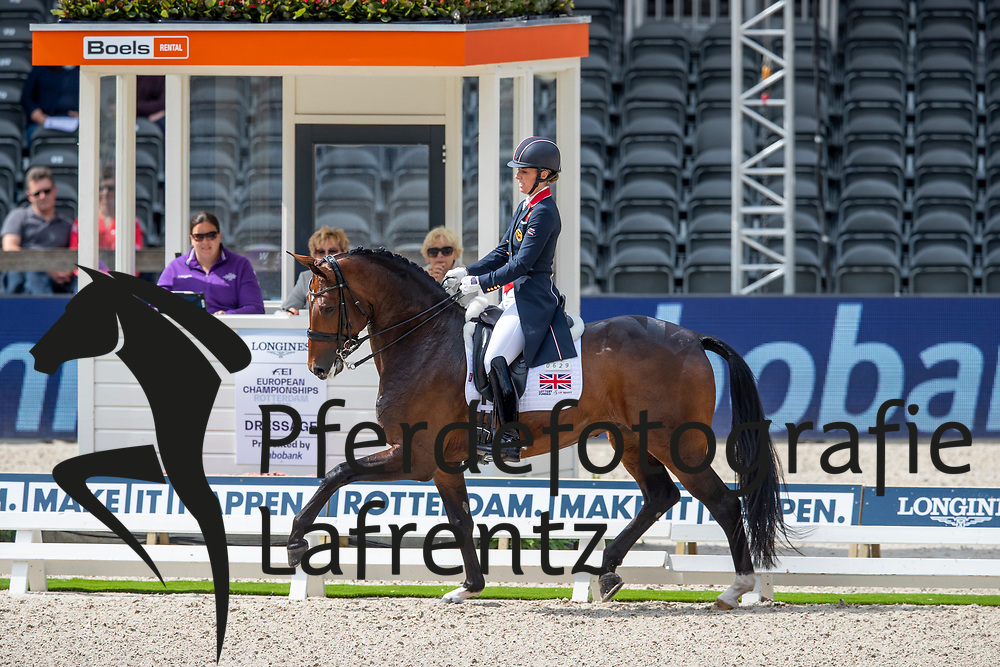 DUJARDIN Charlotte (GBR), MOUNT ST JOHN FREESTYLE<br /> Rotterdam - Europameisterschaft Dressur, Springen und Para-Dressur 2019<br /> Longines FEI European Championships Dressage Grand Prix - Teams (2nd group)<br /> Teamwertung 2. Gruppe<br /> 20. August 2019<br /> © www.sportfotos-lafrentz.de/Sharon Vandeput