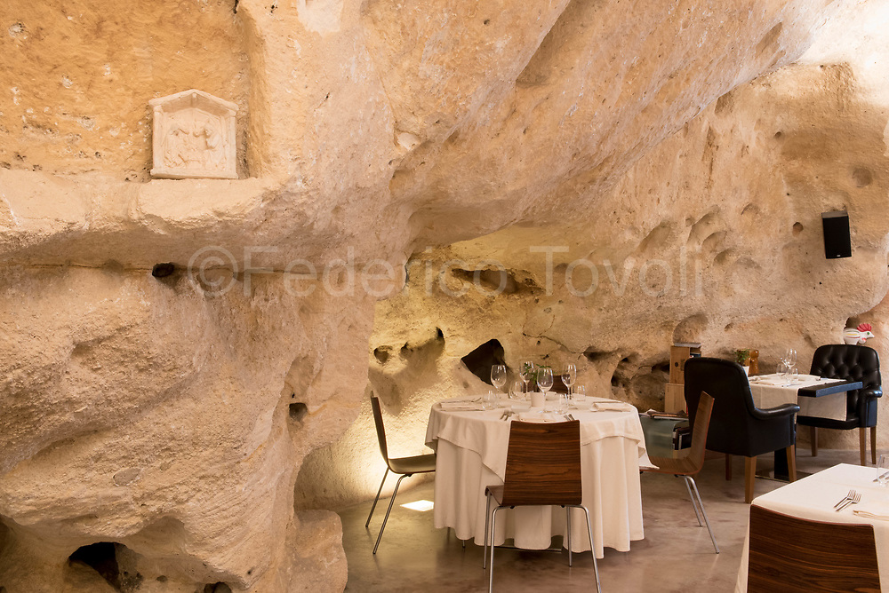 "Interior of the restaurant ""I Baccanti"" one of the most exclusive of the city"