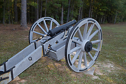 Restored artillery on the battlefield at Ninety Siix National Historic Site, near Ninety-Six, SC.