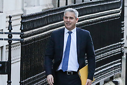 © Licensed to London News Pictures. 08/01/2019. London, UK. Stephen Barclay- Brexit Secretary arrives in Downing Street for the weekly Cabinet meeting. Photo credit: Dinendra Haria/LNP
