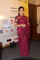 September 4, 2017 - Mumbai, Maharashtra, India - Bollywood Actress and M.P. Hema Malini pose during the announcement of the ''Synergy'' - an Indo Georgian Dance fusion at hotel JW Marriott, Juhu in Mumbai. (Credit Image: © Azhar Khan/Pacific Press via ZUMA Wire)