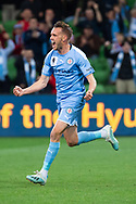 MELBOURNE, AUSTRALIA - SEPTEMBER 18: Craig Noone (11) of Melbourne City celebrates his goal during the FFA Cup Quarter Finals match between Melbourne City FC and Western Sydney Wanderers FC at AAMI Park on September 18, 2019 in Melbourne, Australia. (Photo by Speed Media/Icon Sportswire)