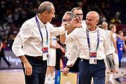 Ettore Messina, Giorfano Consolini<br /> Nazionale Italiana Maschile Senior<br /> Eurobasket 2017 - Final Phase - Round of 16<br /> Finlandia Italia Finland Italy<br /> FIP 2017<br /> Istanbul, 09/09/2017<br /> Foto M.Ceretti / Ciamillo - Castoria