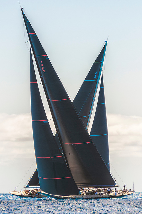 Bermuda, 19th June 2017, America's Cup J Class Regatta. Topaz  and Svea JS1.