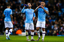 Bernardo Silva of Manchester City and Gabriel Jesus of Manchester City - Mandatory by-line: Robbie Stephenson/JMP - 26/11/2019 - FOOTBALL - Etihad Stadium - Manchester, England - Manchester City v Shakhtar Donetsk - UEFA Champions League Group Stage
