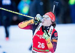 DAHLMEIER Laura (GER) drinking during Women 12,5 km Mass Start at day 4 of IBU Biathlon World Cup 2014/2015 Pokljuka, on December 21, 2014 in Rudno polje, Pokljuka, Slovenia. Photo by Vid Ponikvar / Sportida