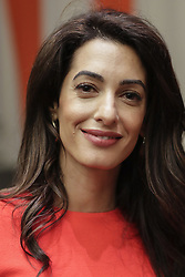 September 28, 2018 - New York, United States - United Nations, New York, USA, September 28, 2018 - Amal Clooney During an Event on Press Behind Bars: Undermining Justice and Democracy today at the UN Headquarters in New York City..Photos: Luiz Rampelotto/EuropaNewswire  (Credit Image: © Luiz Rampelotto/NurPhoto/ZUMA Press)