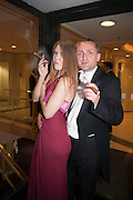 JULIETTE JOHNSTONE; MICHAEL TUDORANCEA, The Royal Caledonian Ball 2013. The Great Room, Grosvenor House. Park lane. London. 3 May 2013.