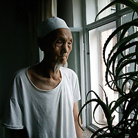 SHIHEZI,JULY-16 :Ma Xiangwu, 94, a former soldier in the defeated Nationalist Army, was one of the earliest settlers in Shihezi, arriving in 1951.<br /> <br /> ( see: http://www.nytimes.com/2009/08/07/world/asia/07xinjiang.html?_r=1&amp;scp=10&amp;sq=andrew%20jacobs&amp;st=cse )