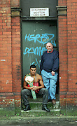 BOXING - NEW WBC SUPER MIDDLEWEIGHT ROB REID AND TRAINER BRIAN HUGHES OUTSIDE THE COLLYHURST AND MOSTON LADS CLUB ..PIC BY HOWARD BARLOW.