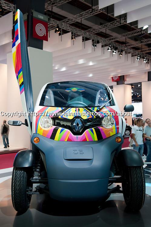 Concept electric Renault Twizy at Paris Motor Show 2010