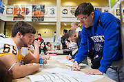 Rowan Univeristy Football Bone Marrow Registry at Rowan Univeristy Student Center in Glassboro, NJ on Wednesday April 24, 2013. (photo / Mat Boyle)